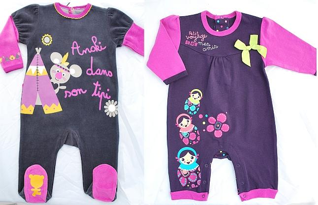 Et les pyjamas tout aussi rigolos, elle va être choupette la princesse.